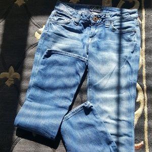 Lucky denim jeans.